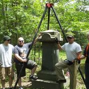 SUVCW Members posing with restored grave